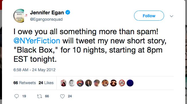 Jennifer Egan Tweet
