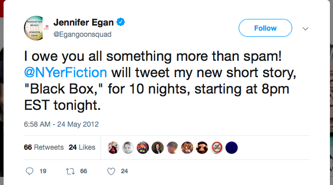 Jennifer Egan Tweet